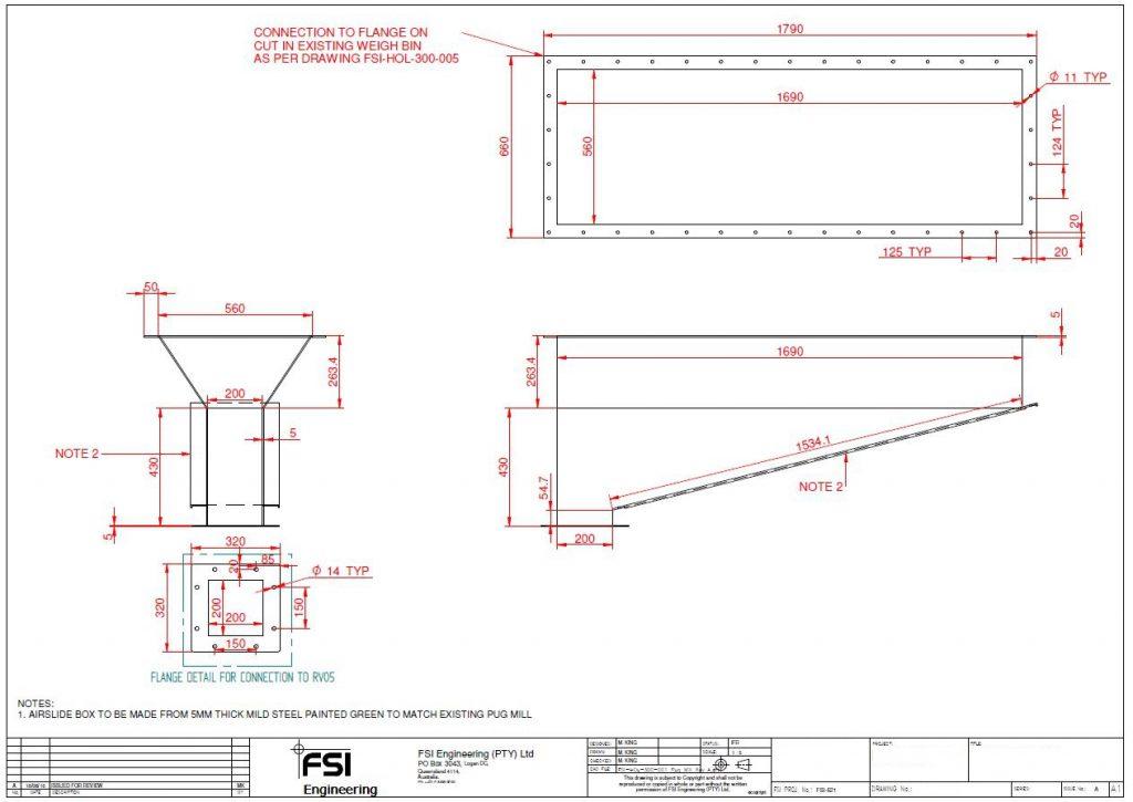 Airslides Design Drawings