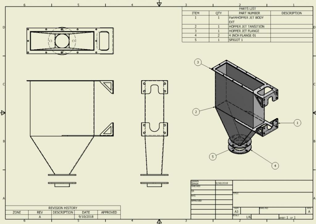 Hopper Design Drawing